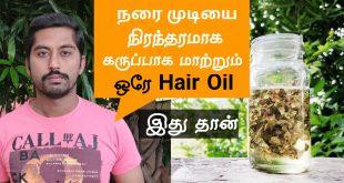 gray hair to black naturally